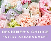 Designer�s Choice Pastel Arrangement in orange , jenisa florist & gifts