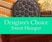 Designer�s Choice Sweet Hamper in grange , the blu tulip