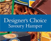 Designer�s Choice Savoury Hamper in orange , classic country rose
