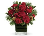 Christmas Blush in hyde park , hyde park florist
