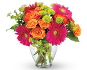 Rainbow Wishes in orange , pick me flowers and gifts