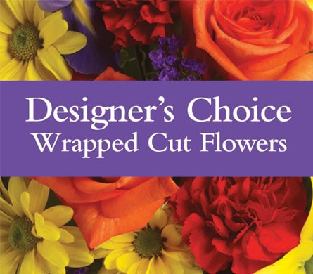 Designer's Choice Wrapped Cut Flowers in Canning Vale , Florist Works Canning Vale