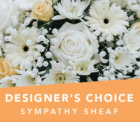 Designer's Choice Sympathy Sheaf in Rosebud , Rosebud Flower Shop
