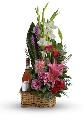 Blushing Celebration for flower delivery Australia wide