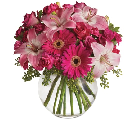 Pink Me Up in Midland , Abunch Flowers Midland Florist