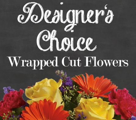 Designer's Choice Wrapped Cut Flowers for flower delivery United Kingdom wide