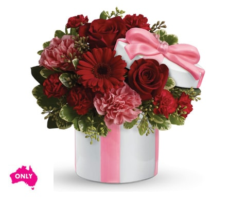 Hats Off to Red in Nowra , Hyams Nowra Florist