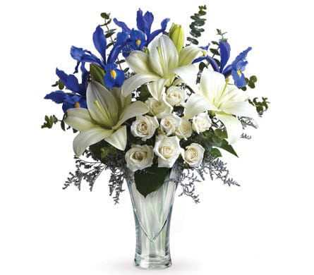 Heartfelt Blues for flower delivery New Zealand wide