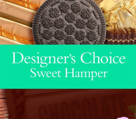 Designer's Choice Sweet Hamper for flower delivery Australia wide