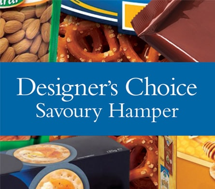 Designer's Choice Savoury Hamper for flower delivery New Zealand wide