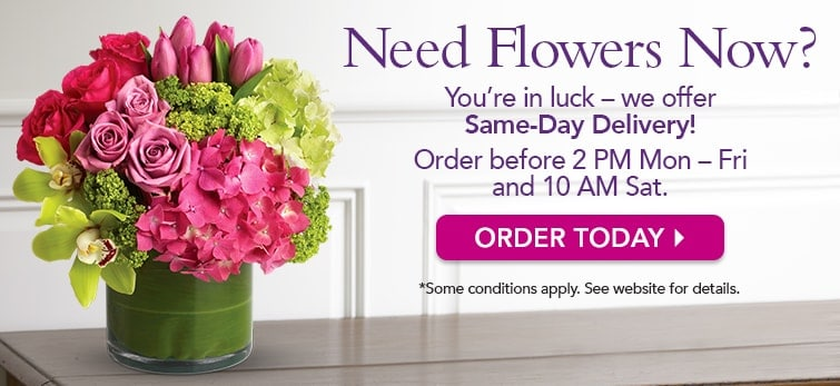 We Offer Same-Day Flower Delivery